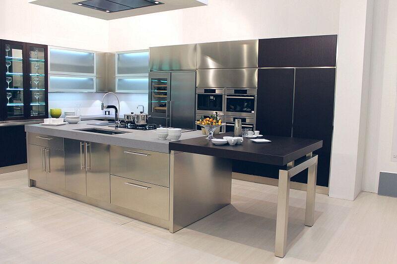 Arca Cucine Italia Cucine Domestiche Acciaio Inox Barn Nera 1633 180