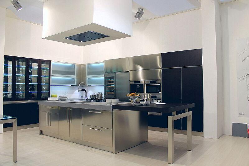 Arca Cucine Italia Cucine Domestiche Acciaio Inox Barn Nera 1635 178
