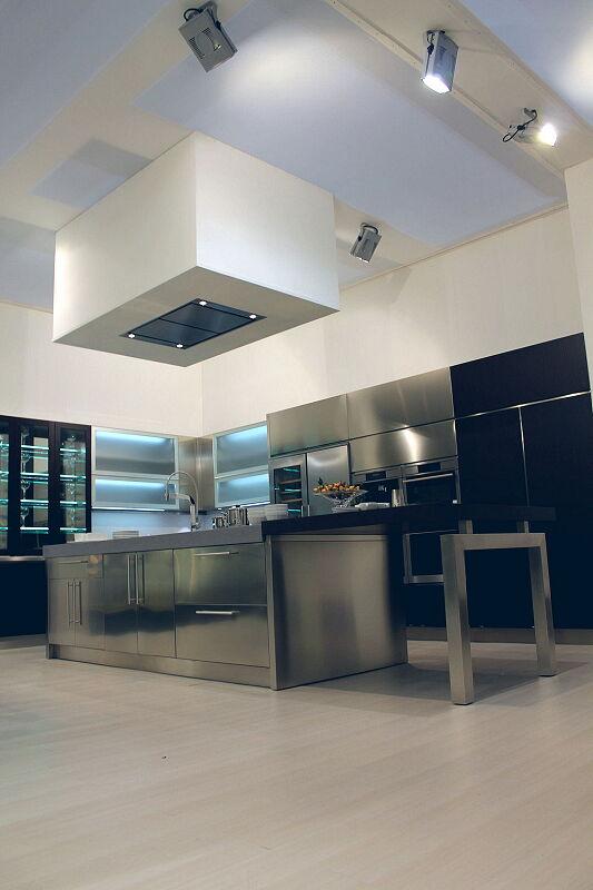 Arca Cucine Italia Cucine Domestiche Acciaio Inox Barn Nera 1637 177