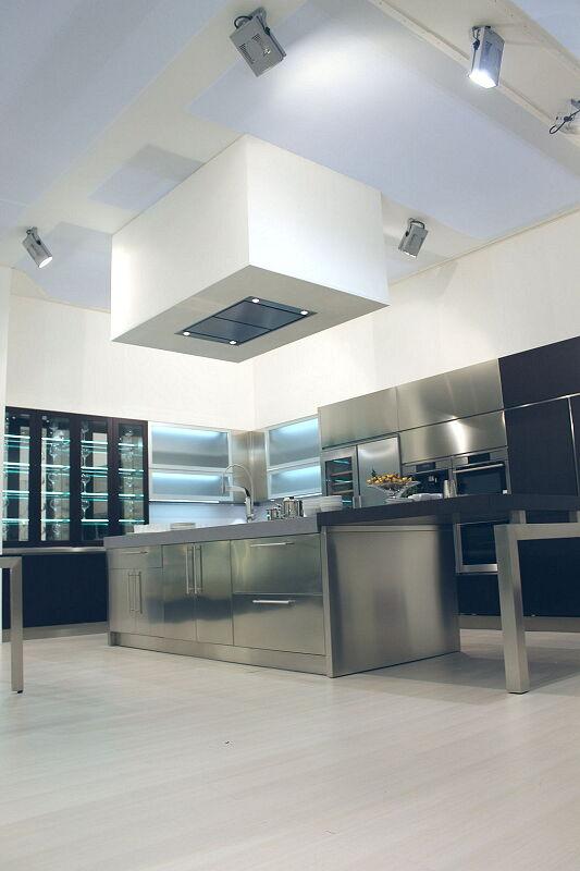 Arca Cucine Italia Cucine Domestiche Acciaio Inox Barn Nera 1638 176