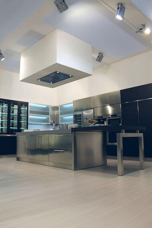 Arca Cucine Italia Cucine Domestiche Acciaio Inox Barn Nera 1639 175