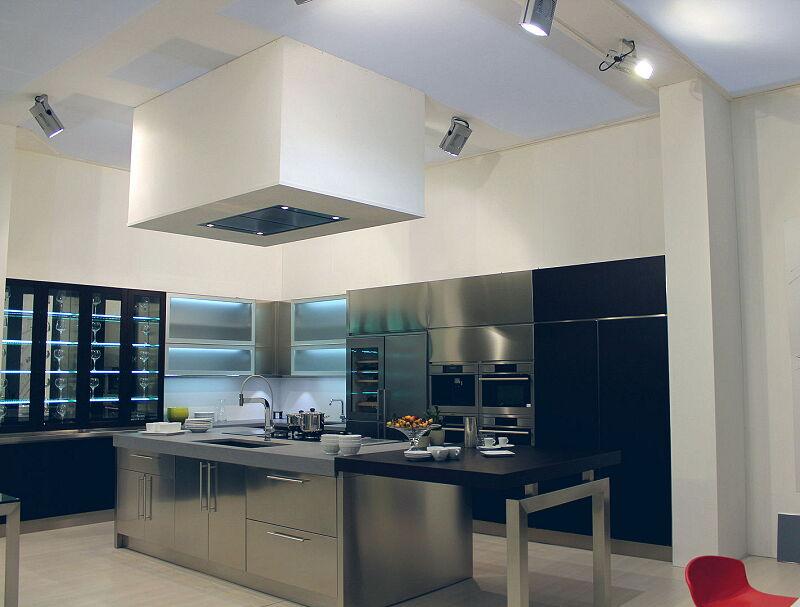 Arca Cucine Italia Cucine Domestiche Acciaio Inox Barn Nera 1641 173