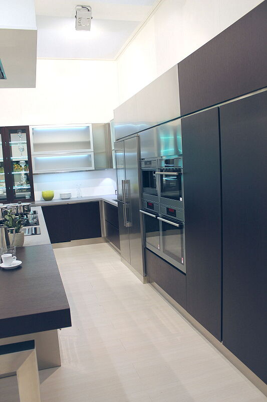 Ark Kitchens Italian Kitchens Milf Stainless Steel Black Barn 1652 165