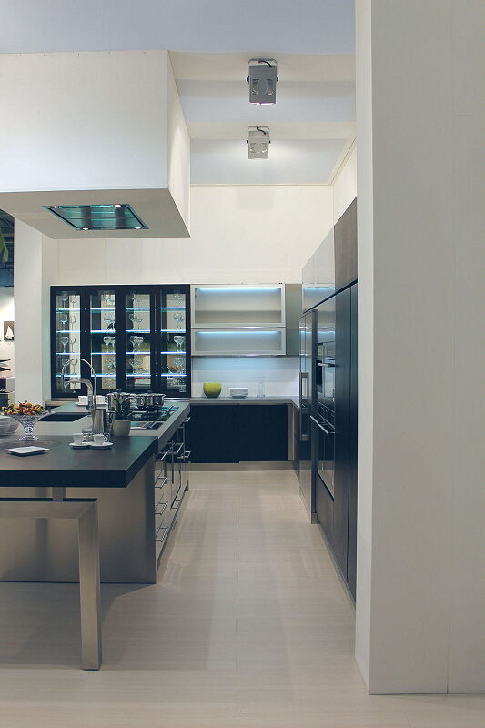 Arca Cucine Italia Cucine Domestiche Acciaio Inox Barn Nera 1653 164