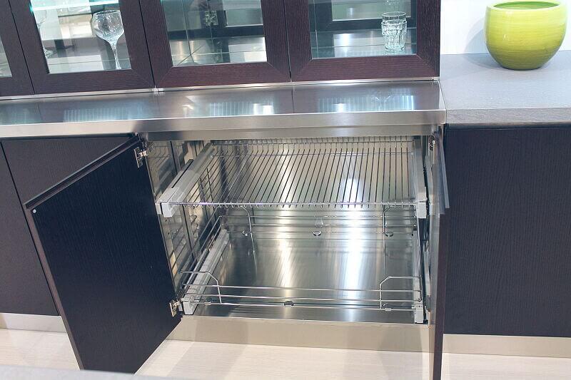 Ark Kitchens Italian Kitchens Milf Stainless Steel Black Barn 1694 146