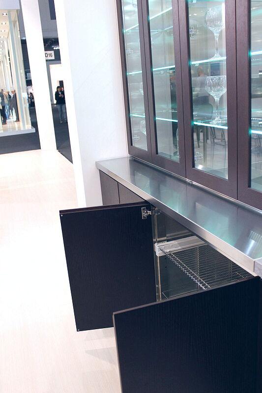 Ark Kitchens Italian Kitchens Milf Stainless Steel Black Barn 1696 144