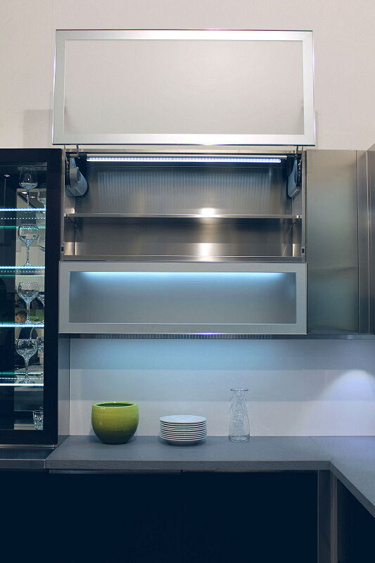 Ark Kitchens Italian Kitchens Milf Stainless Steel Black Barn 1705 135