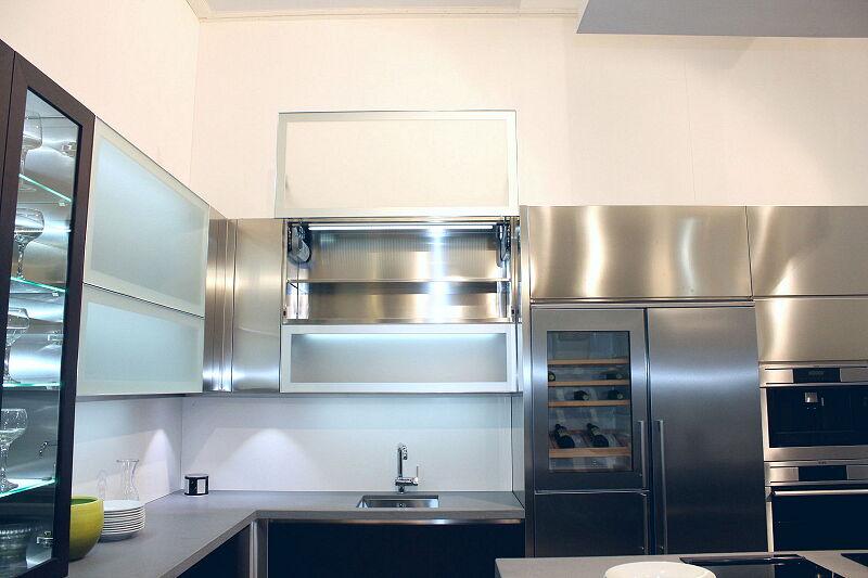 Arca Cucine Italia Cucine Domestiche Acciaio Inox Barn Nera 1712 132