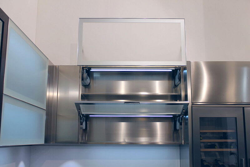 Ark Kitchens Italian Kitchens Milf Stainless Steel Black Barn 1714 130