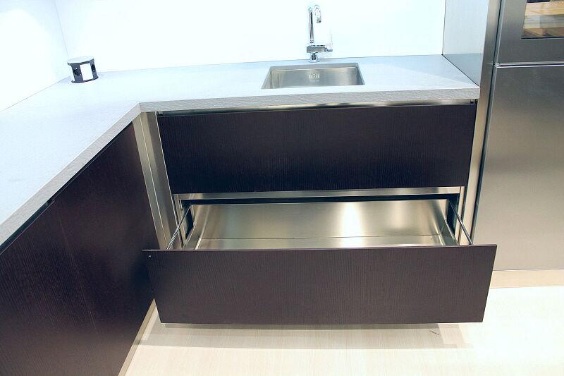 Ark Kitchens Italian Kitchens Milf Stainless Steel Black Barn 1718 129