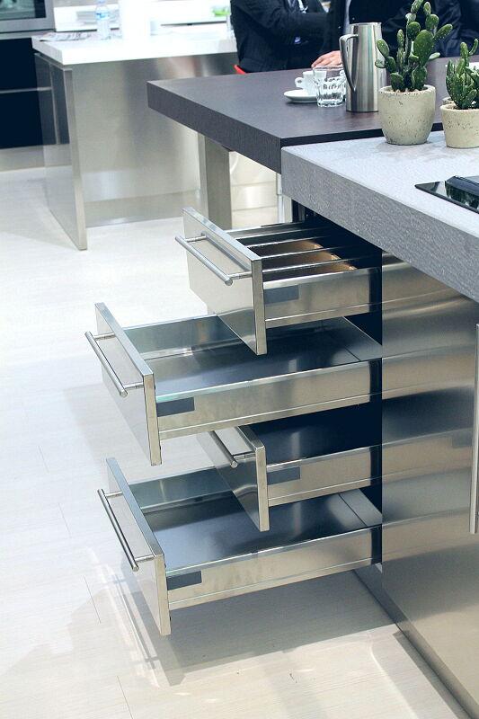 Ark Kitchens Italian Kitchens Milf Stainless Steel Black Barn 1722 125