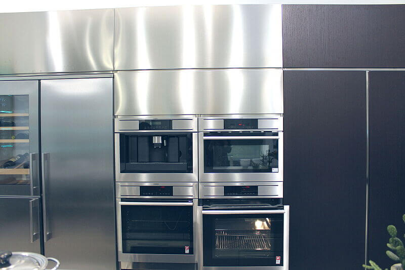 Ark Kitchens Italian Kitchens Milf Stainless Steel Black Barn 1733 118