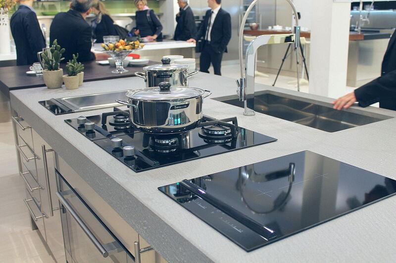 Arca Cucine Italia Cucine Domestiche Acciaio Inox Barn Nera 1757 096