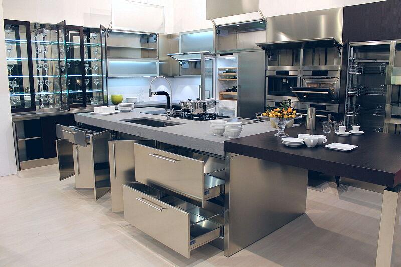 Arca Cucine Italia Cucine Domestiche Acciaio Inox Barn Nera 1877 015