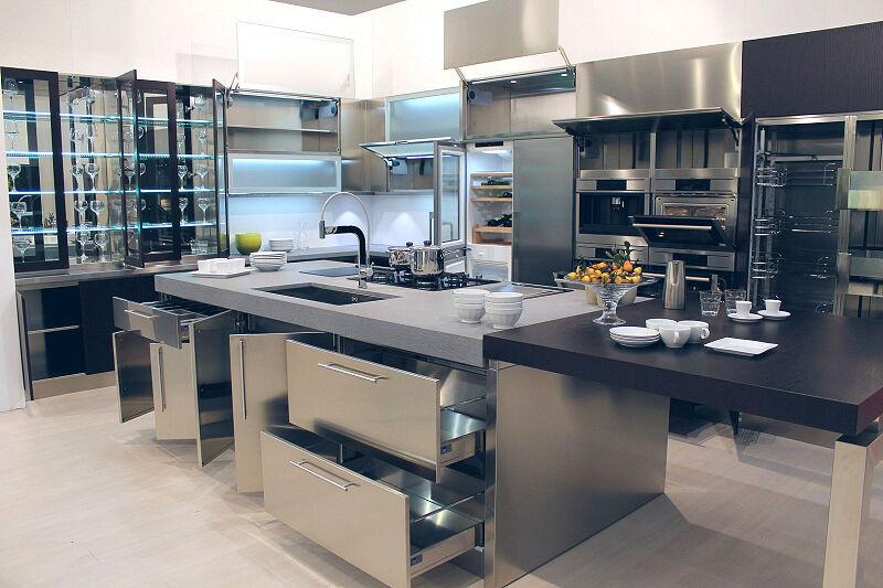 Arca Cucine Italia Cucine Domestiche Acciaio Inox Barn Nera 1878 014
