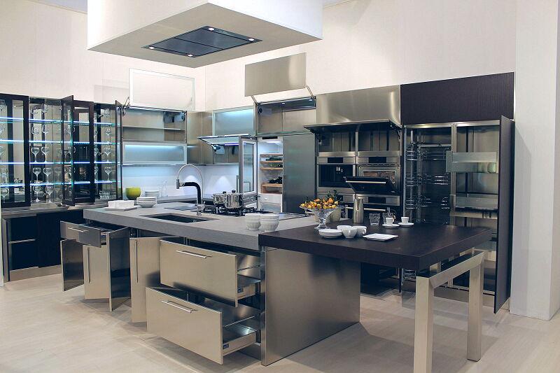 Arca Cucine Italia Cucine Domestiche Acciaio Inox Barn Nera 1880 012