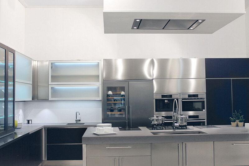 Arca Cucine Italia Cucine Domestiche Acciaio Inox Barn Nera orizzontale