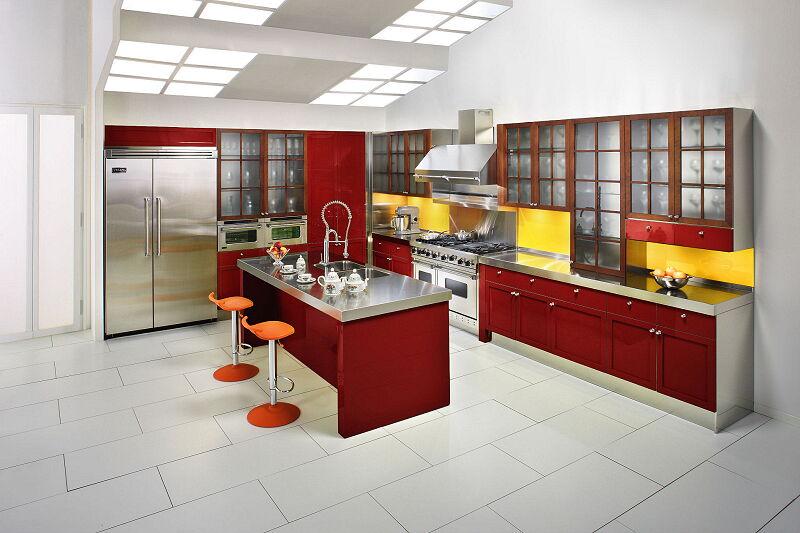 Arca Cucine Italia Cucine Domestiche Acciaio Inox Cambridge Cambridge Rossa 1920 1