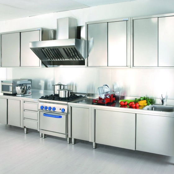 Arca Cucine Italy - Domestic stainless steel kitchens - Grand Gourmet Chef - Inox modules