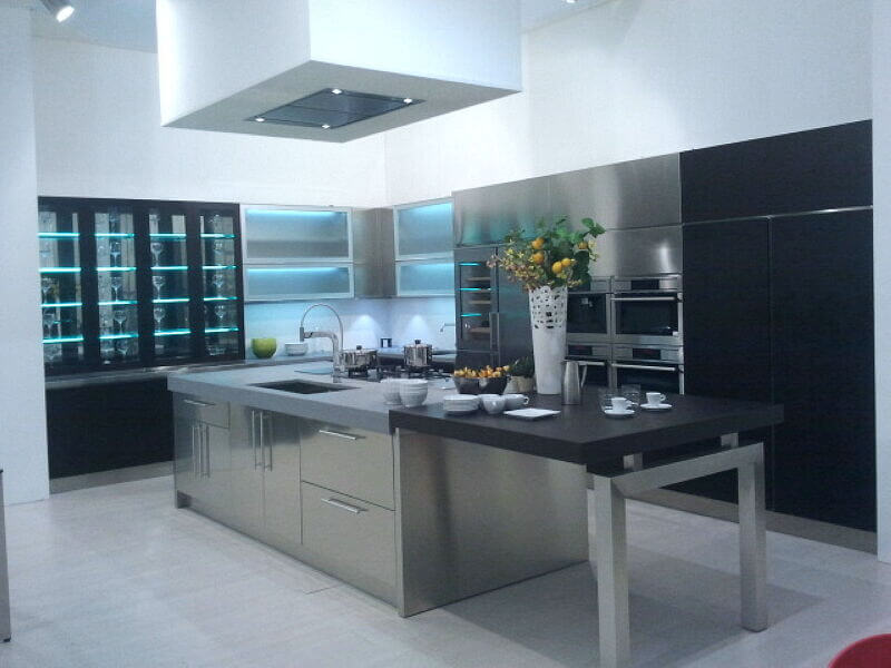 Arca Italian Kitchen Stainless Steel Kitchen Milf Grandi Cucine 043