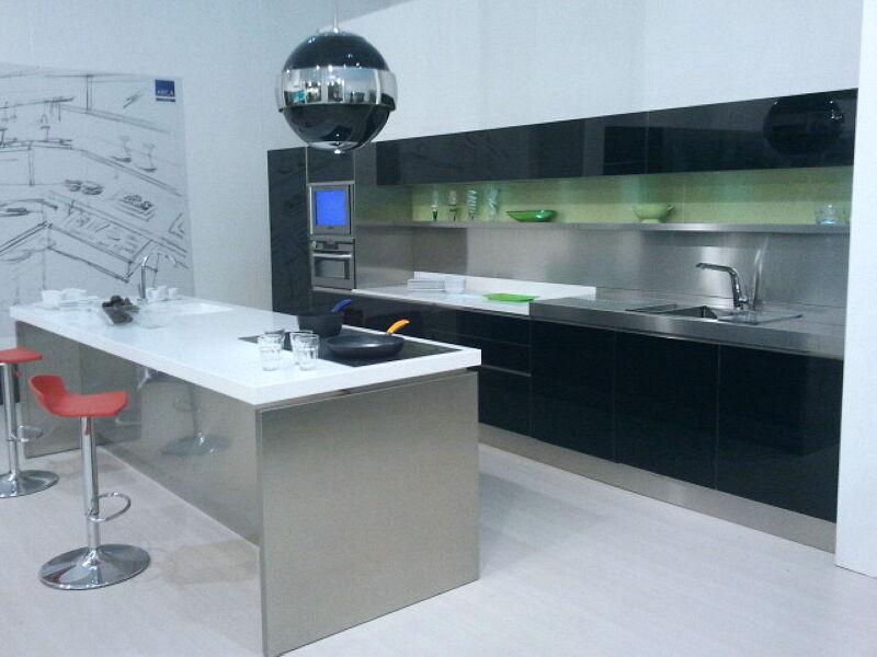 Arca Italian Kitchen Stainless Steel Kitchen Milf Grandi Cucine 053