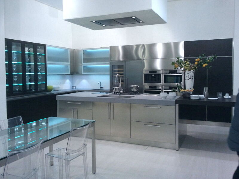 Arca Italian Kitchen Stainless Steel Kitchen Milf Grandi Cucine 056