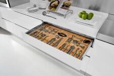 Arca Cucine Italia - Cassetto Porta Posate con Interno in Legno e Guide con Chiusura Rallentata