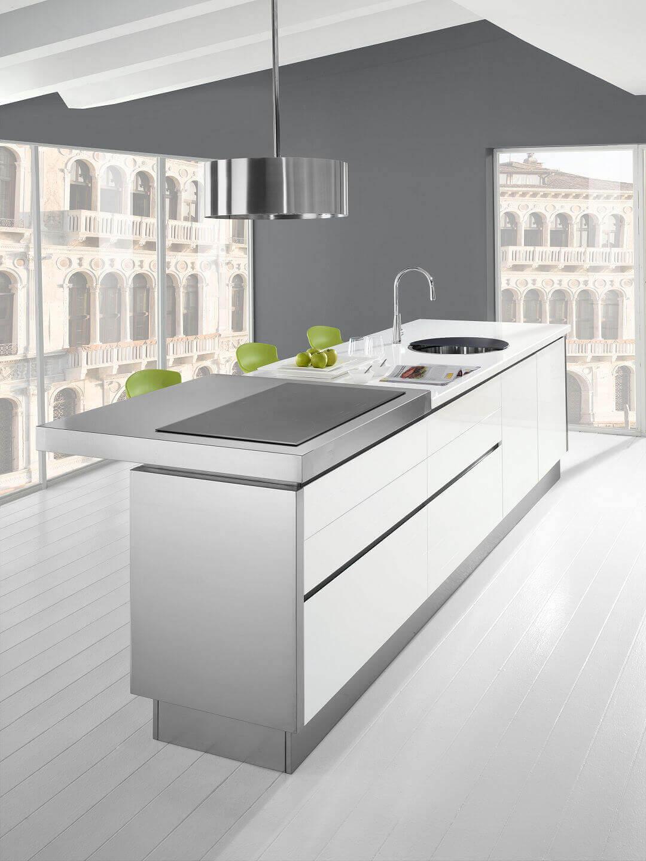 Arca Cucine Italia - Cucina Domestica in Acciaio Inox - Modello Trend