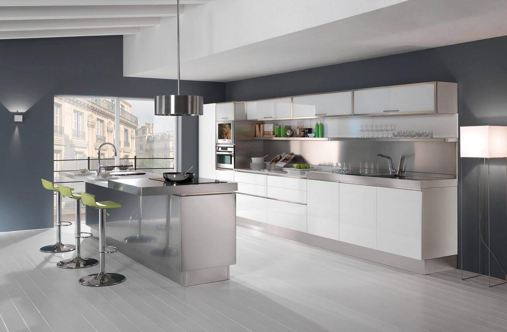 Trend arca cucine italia cucine in acciaio inox for Cucina italiana mobili
