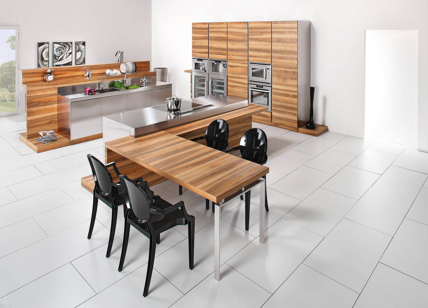 Arca Cucine Italy - Domestic stainless steel kitchens - Hd - table