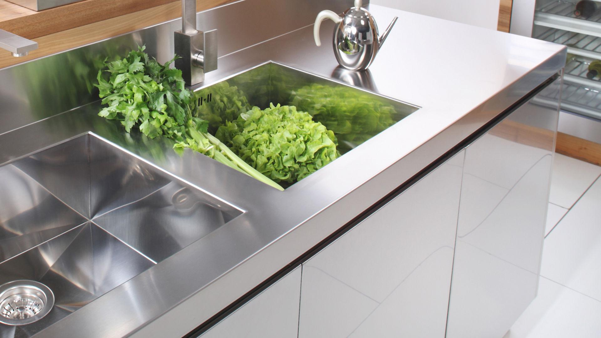 Arca Cucine Italia - Cucine Domestiche Acciaio Inox - Maniglie - Gola 016