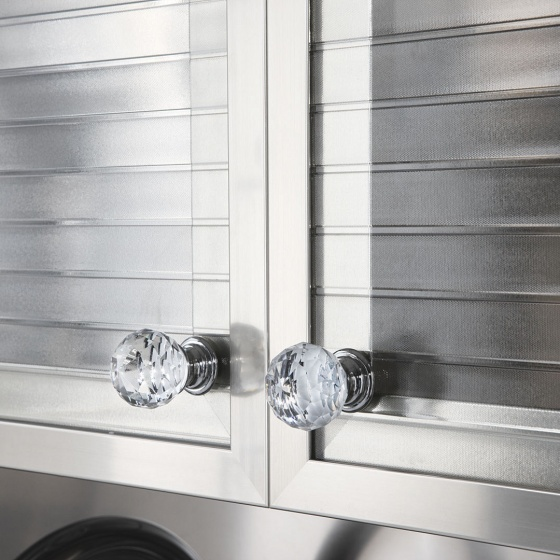 Arca Cucine Italy - Domestic stainless steel kitchens - Handles - Knobs Glass 004
