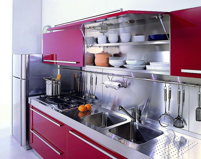 Arca Cucine Italia Cucine Domestiche Acciaio Inox Mebel Partrosso1 1920 1