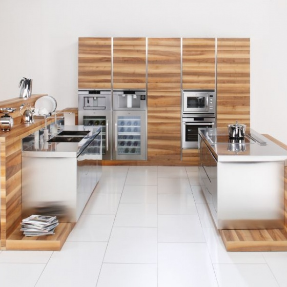 Arca Cucine Italy - Domestic stainless steel kitchens - Open - Arca_389 600
