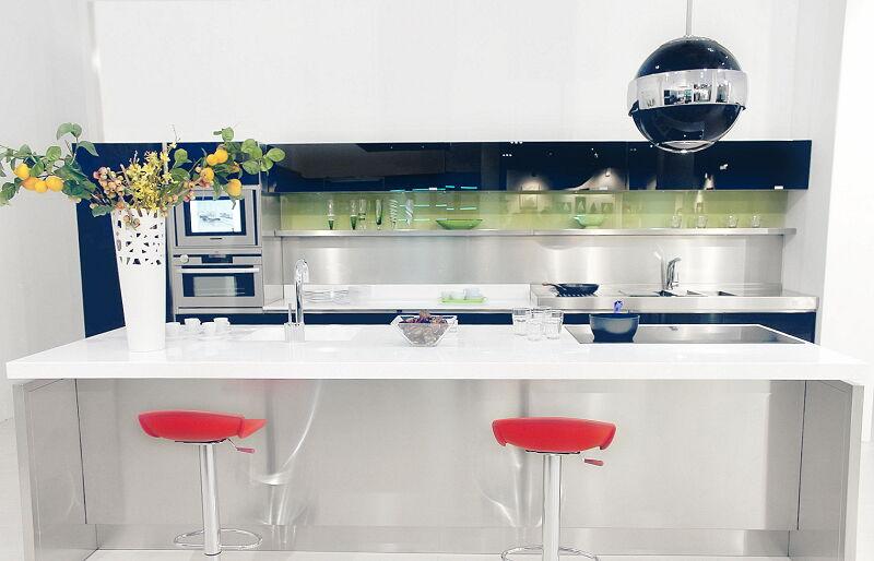 Arca Cucine Italia Cucine Domestiche Acciaio Inox Prisma Frontale