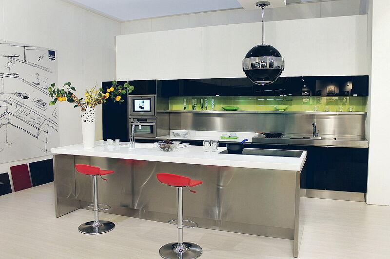 Arca Cucine Italia Cucine Domestiche Acciaio Inox Prisma Totale
