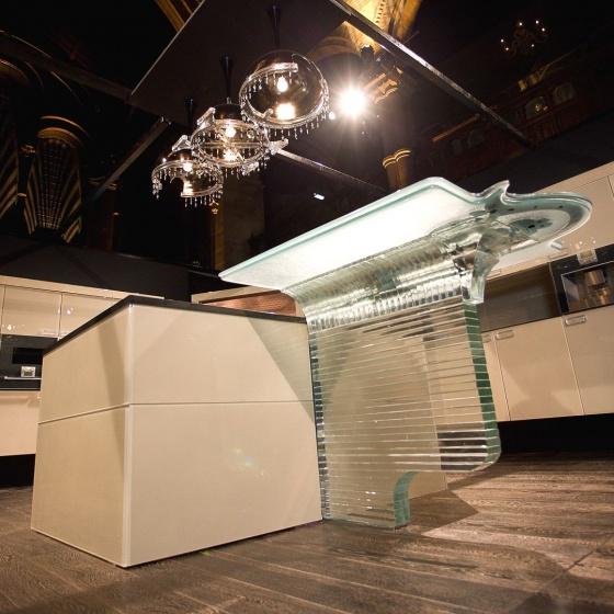Arca Cucine Italy - Kitchen Copper Murano Glass - Architect Claudio Celiberti