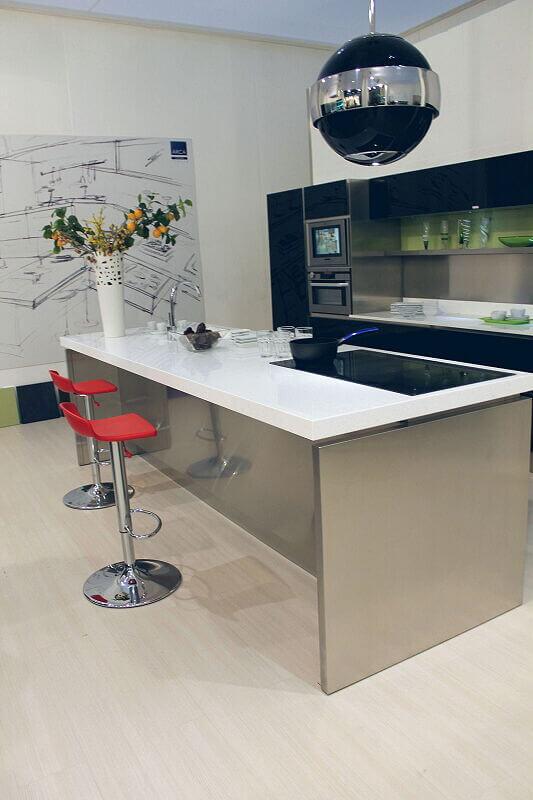 Arca Cucine Italia Cucine Domestiche Acciaio Inox Trend Nera 1658 159