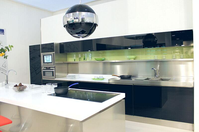 Arca Cucine Italia Cucine Domestiche Acciaio Inox Trend Nera 1664 154