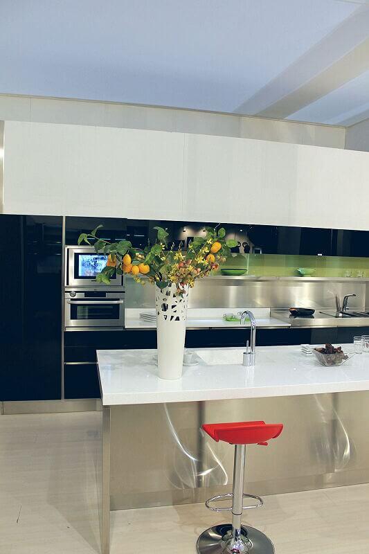 Arca Cucine Italia Cucine Domestiche Acciaio Inox Trend Nera 1668 152