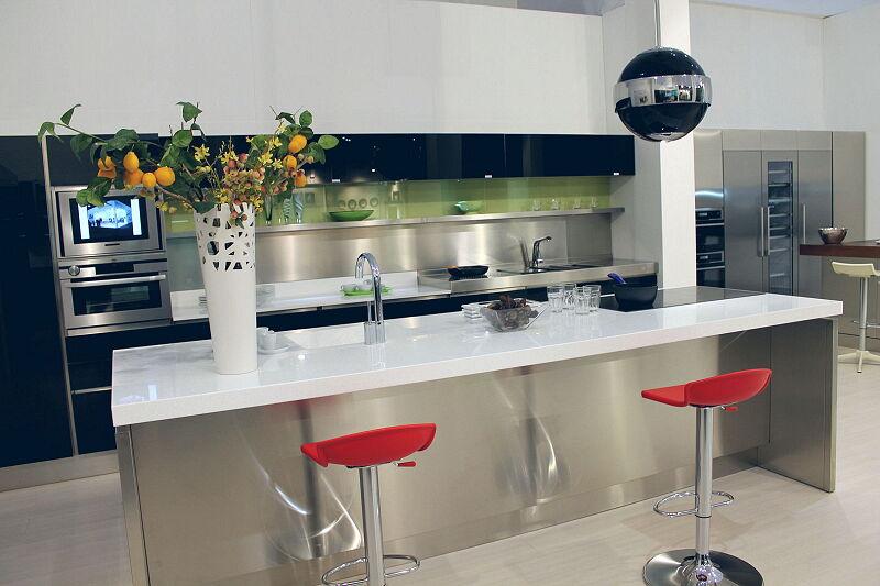 Arca Cucine Italia Cucine Domestiche Acciaio Inox Trend Nera 1669 151