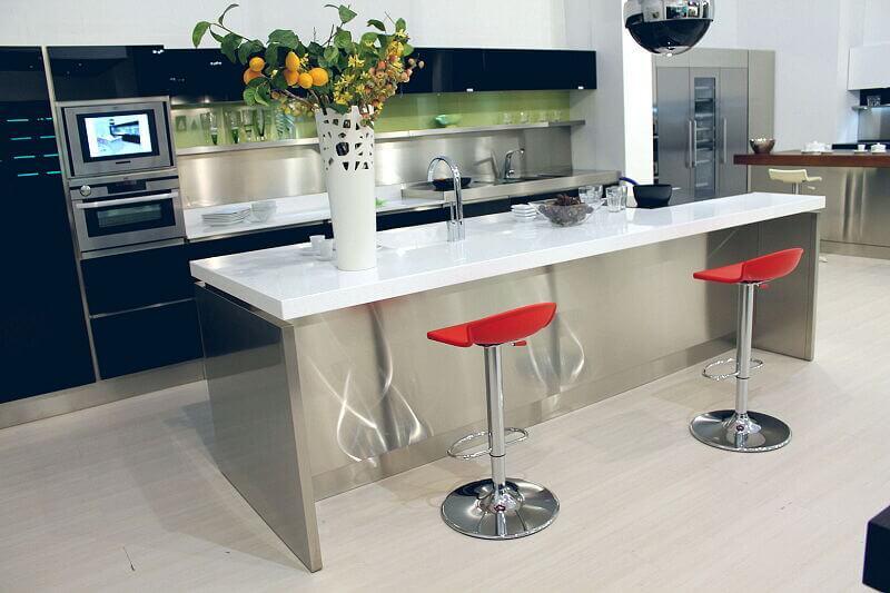 Arca Cucine Italia Cucine Domestiche Acciaio Inox Trend Nera 1670 150
