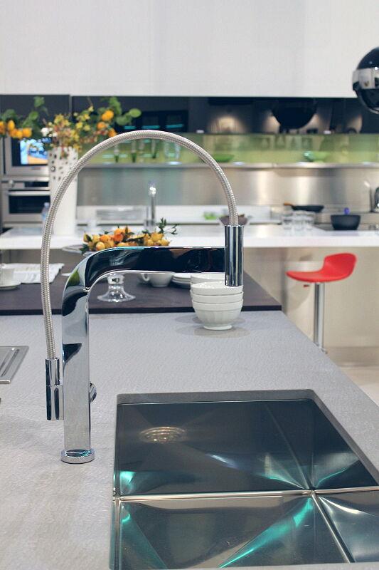 Arca Cucine Italia Cucine Domestiche Acciaio Inox Trend Nera 1673 148