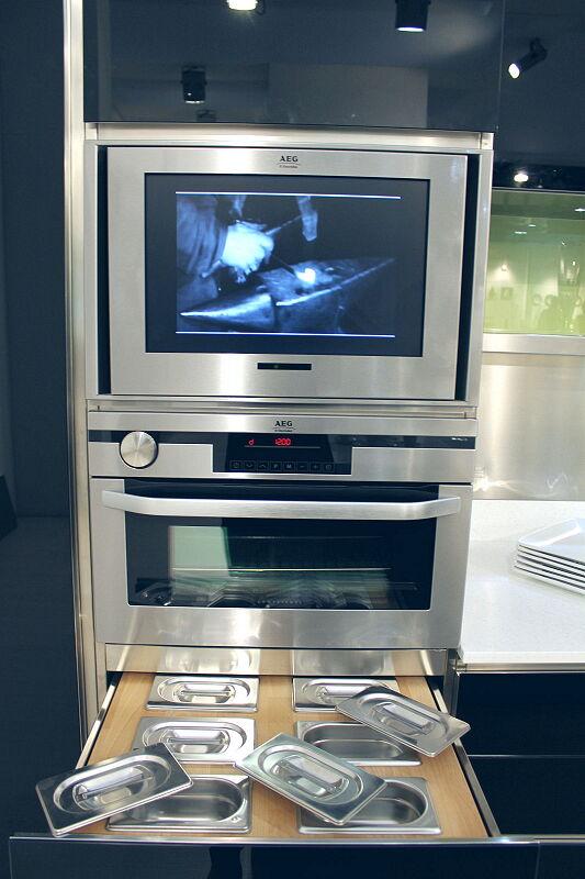 Arca Cucine Italia Cucine Domestiche Acciaio Inox Trend Nera 1832 051