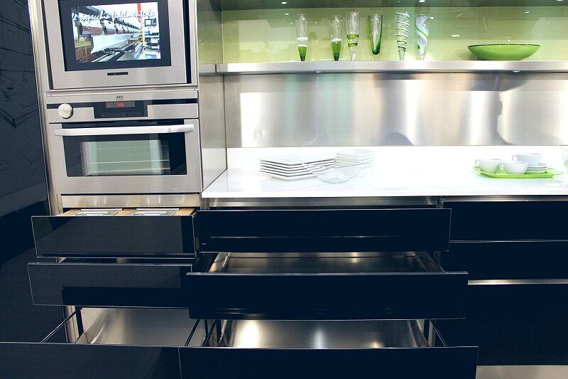 Arca Cucine Italia Cucine Domestiche Acciaio Inox Trend Nera 1834 049