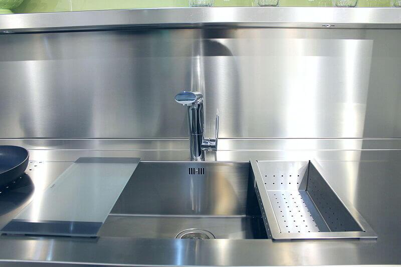 Arca Cucine Italia Cucine Domestiche Acciaio Inox Trend Nera 1845 041
