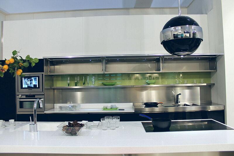 Arca Cucine Italia Cucine Domestiche Acciaio Inox Trend Nera 1861 028