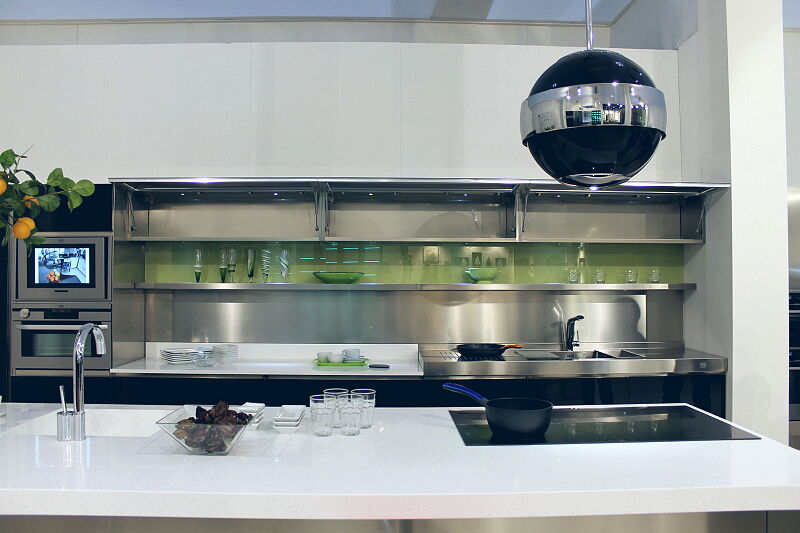 Arca Cucine Italia Cucine Domestiche Acciaio Inox Trend Nera 1862 027