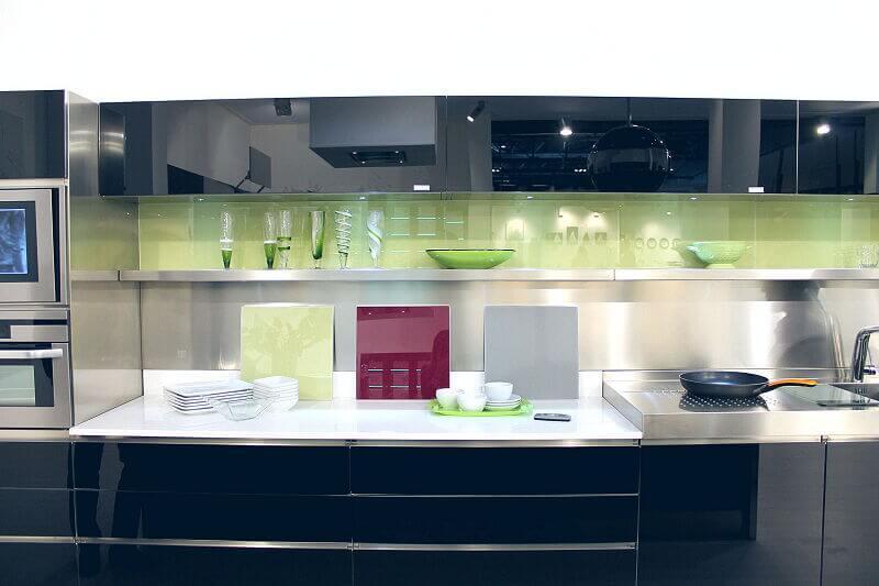Arca Cucine Italia Cucine Domestiche Acciaio Inox Trend Nera 1866 025