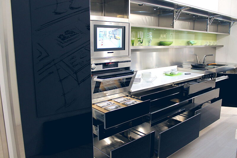 Arca Cucine Italia Cucine Domestiche Acciaio Inox Trend Nera 1871 021